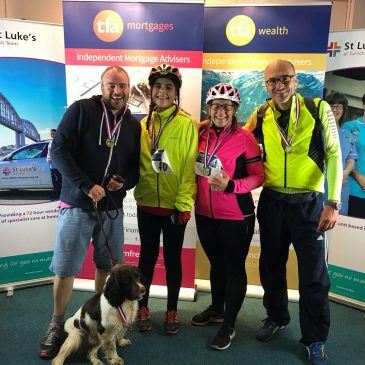 50k charity ride with Barney the dog ..